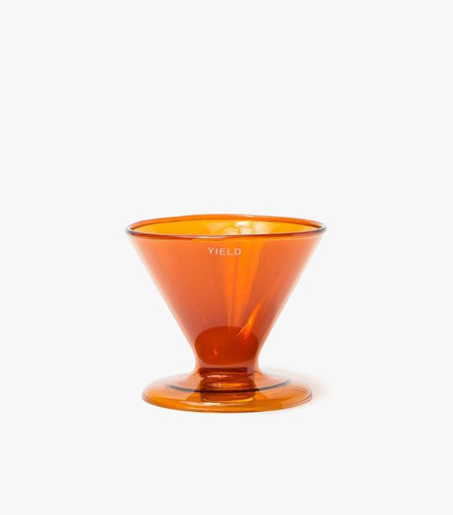 Double Wall Pour Over Coffee Coffee Maker in Amber
