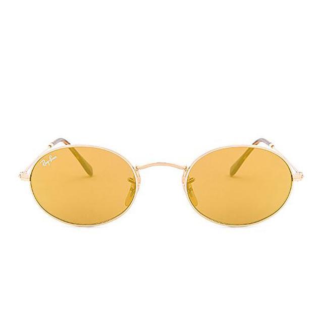 Oval Flat in Metallic Gold.