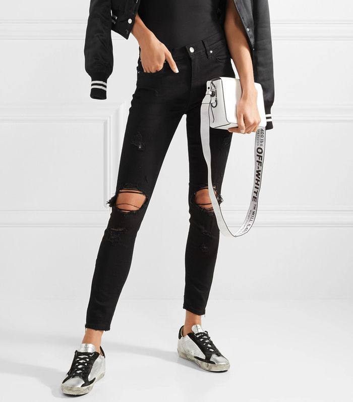 13 Ways To Wear Black Ripped Jeans Who What Wear