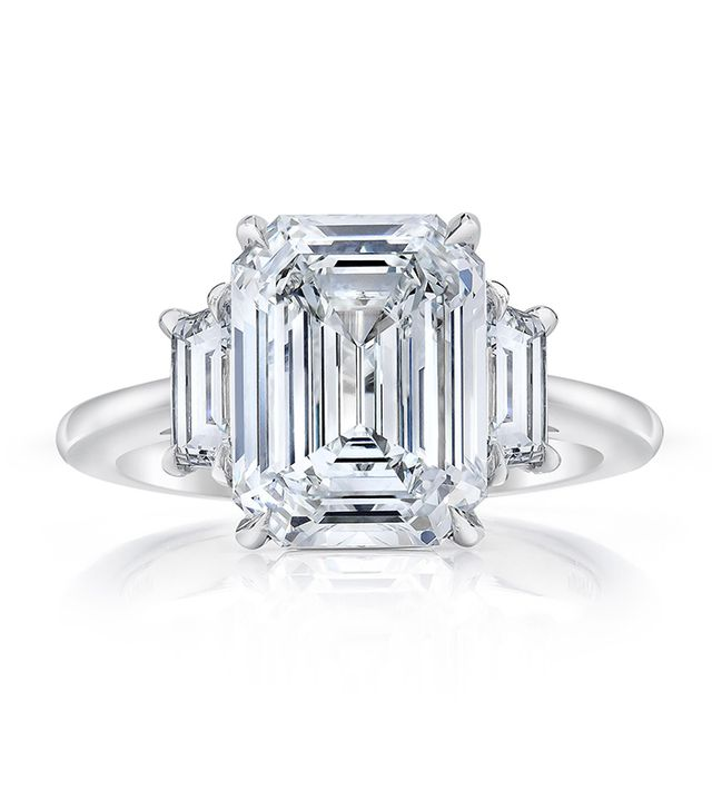 Emerald Cut Trapezoid Side Stone