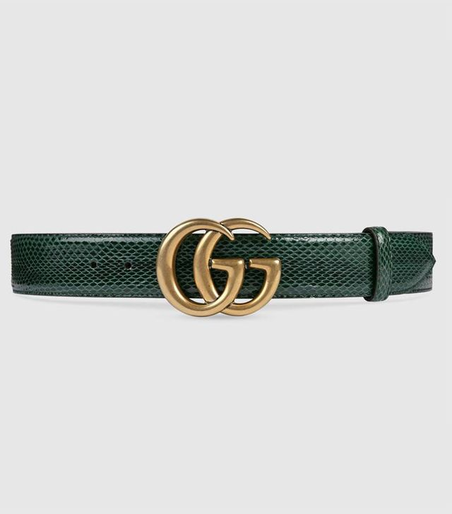 Ayers belt with Double G buckle