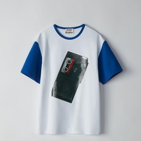 Nite White/Cyan Blue T-Shirt