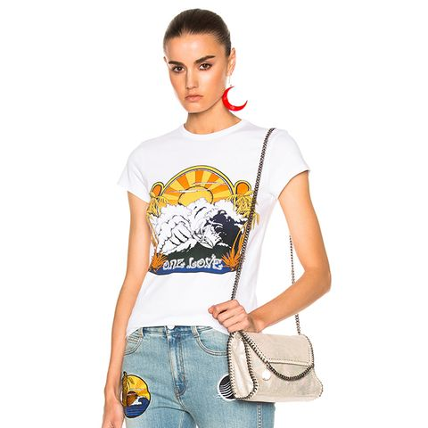 One Love Surf Print T-Shirt