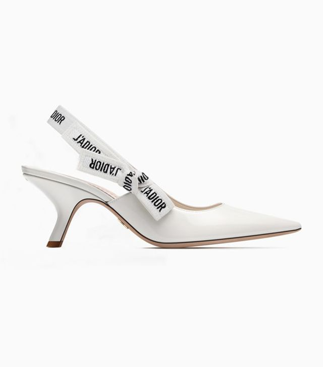 Dior Slingback in White Patent Leather