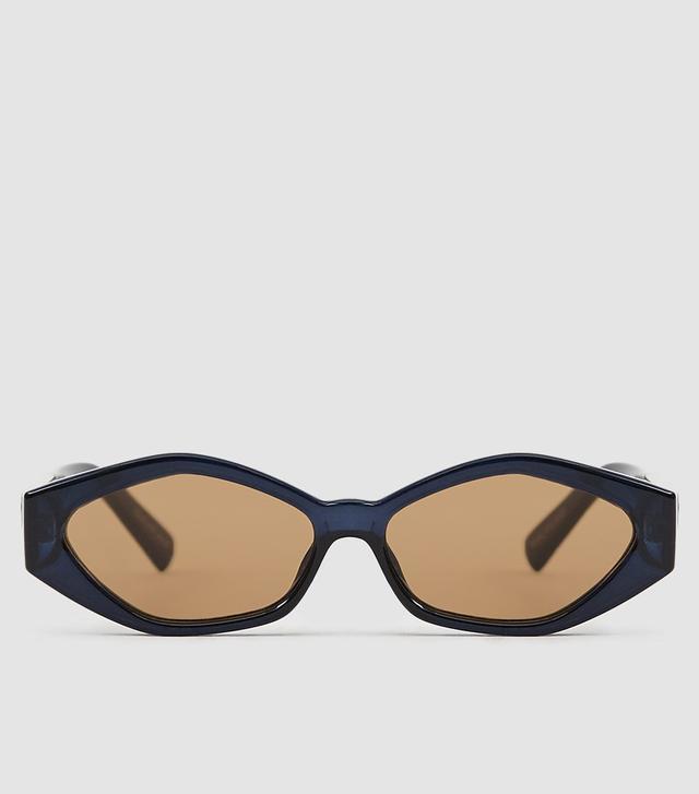 Jordan Askill x Le Specs Petit Panthère Sunglasses in Navy