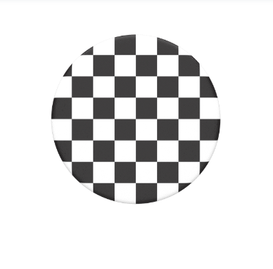 PopSockets Black and White Checker Pattern
