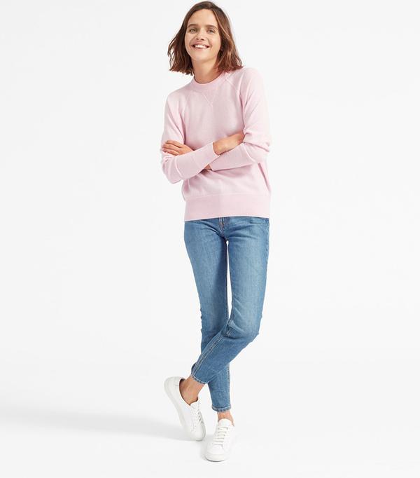 Women's Cashmere Sweatshirt by Everlane in Soft Pink, Size M