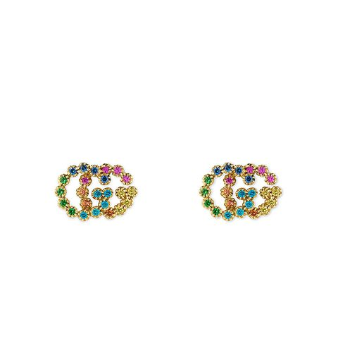 Double-G Multistone Stud Earrings