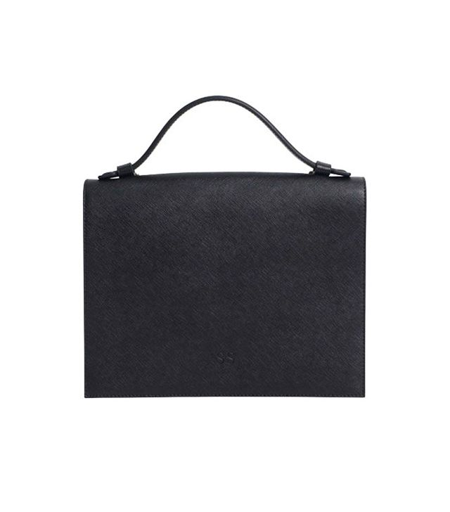 The Daily Edited Black Top Handle Bag