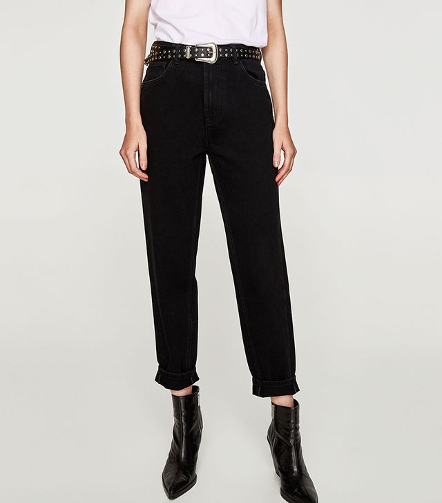 Zara High Waist Mom Fit Jeans
