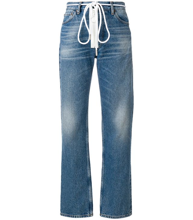 Off-White Drawstring Jeans