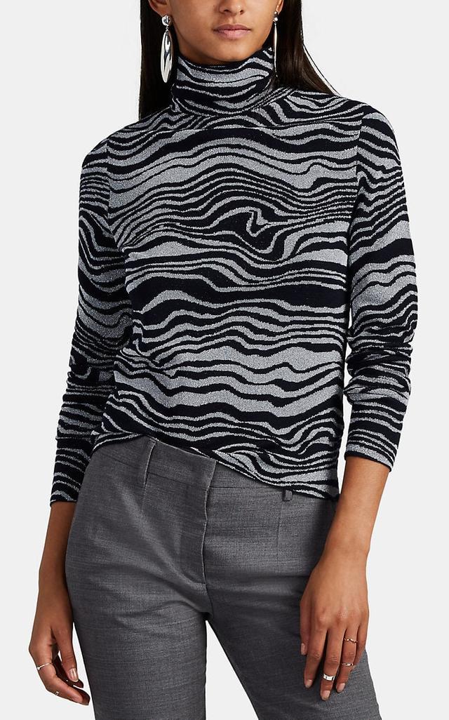 Sies Marjan Roos Wave Jacquard Cashmere-Blend Sweater