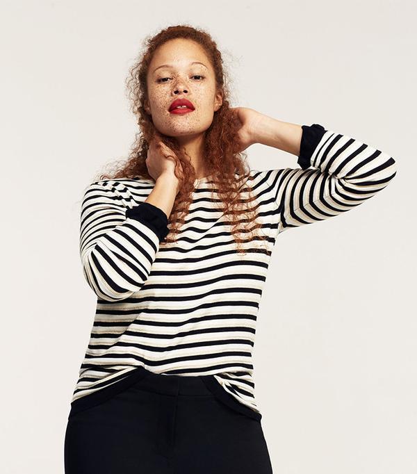 Stripe pattern sweater