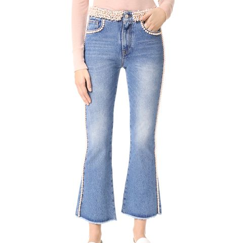 Imitation Pearl Jeans