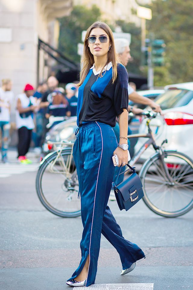 black and navy outfits