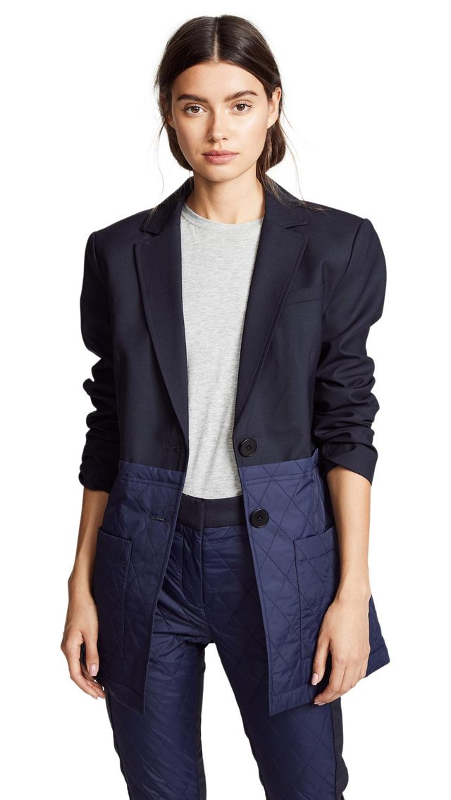 Quilted Combo Blazer