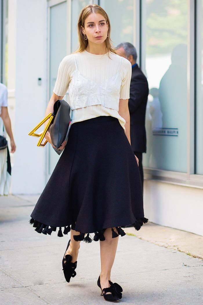 brilliant outfits with long black skirt black