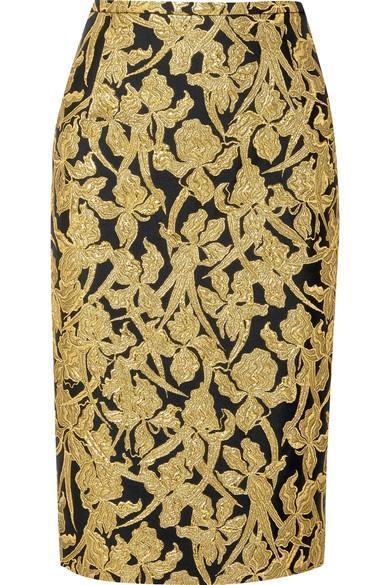 Metallic Jacquard Skirt