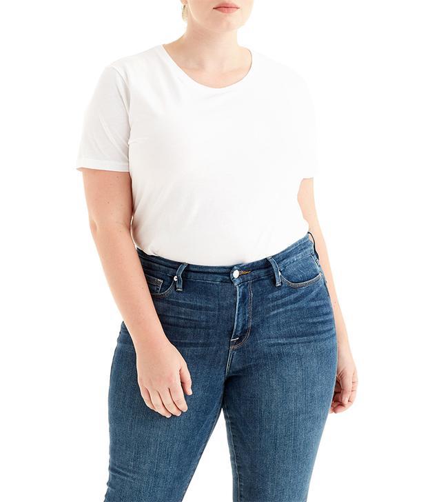 Adam Lippes V Neck Pima Cotton T-Shirt