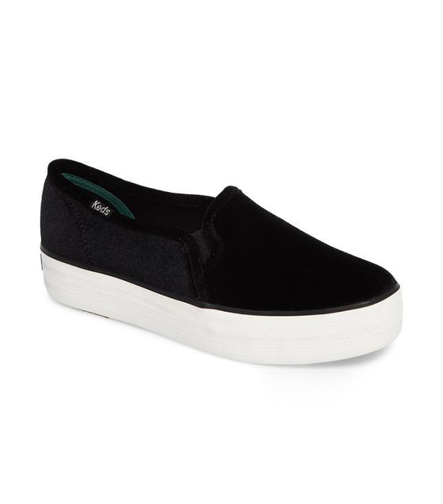 Keds Triple Decker Velvet Sneakers