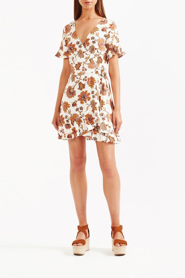 Tigerlily Aliki Wrap Mini Dress