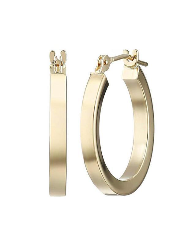 Amazon 14k Yellow Gold Square Tube Hoop Earrings