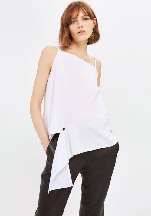 Topshop Asymmetrical Strappy Top