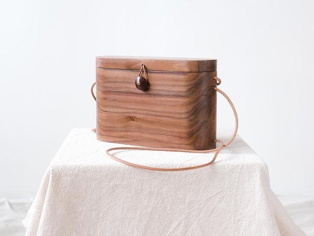 Grav Grav Walnut Wood Backpack & Cross-Body Bag
