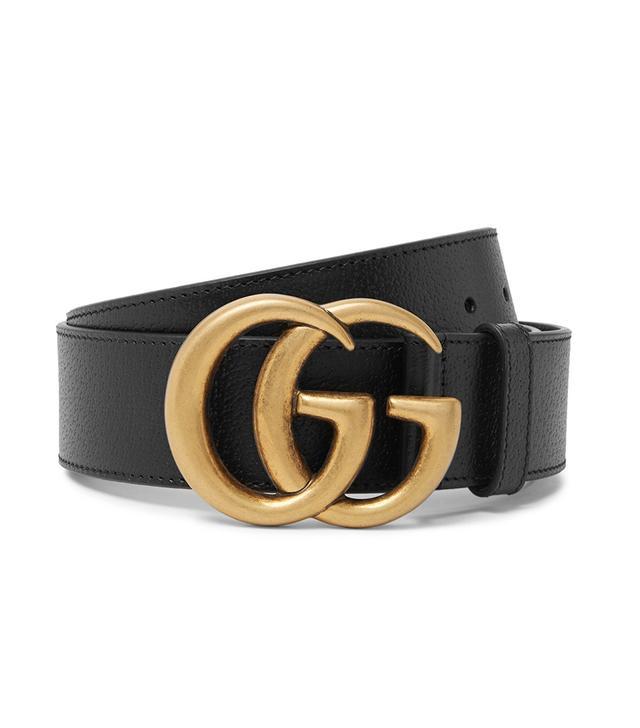 Gucci Black Full-Grain Leather Belt