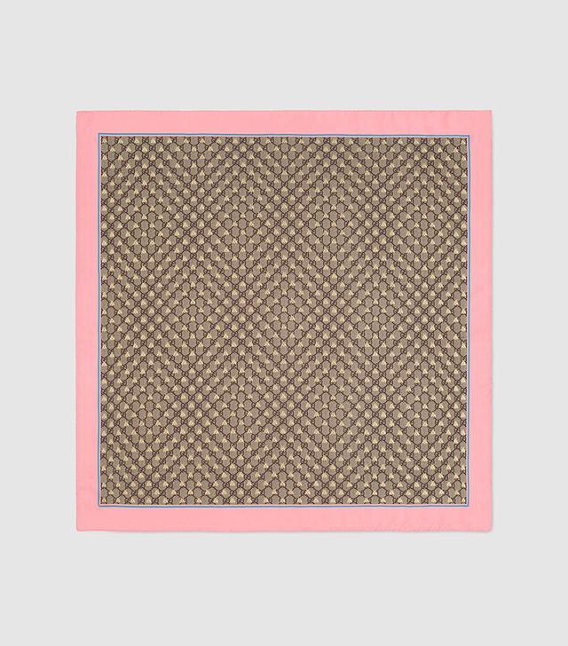 GG bees silk scarf
