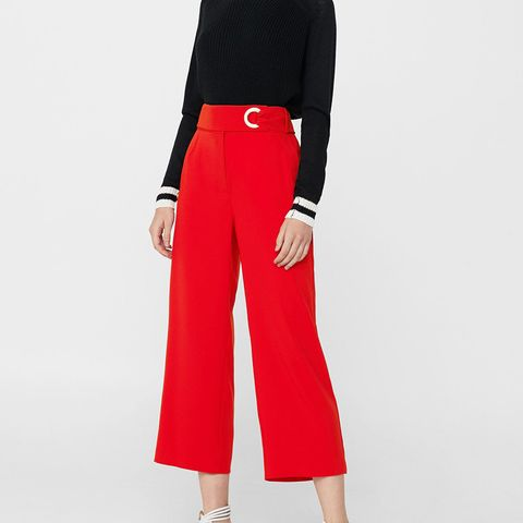 Buckle Crop Trousers