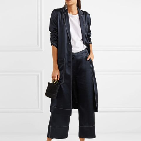 Duke Cropped Satin Pants