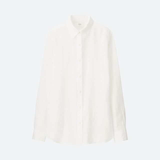 Uniqlo Womens Premium Long Sleeve Shirt