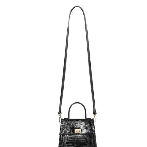 Katya Bag in Black Croc