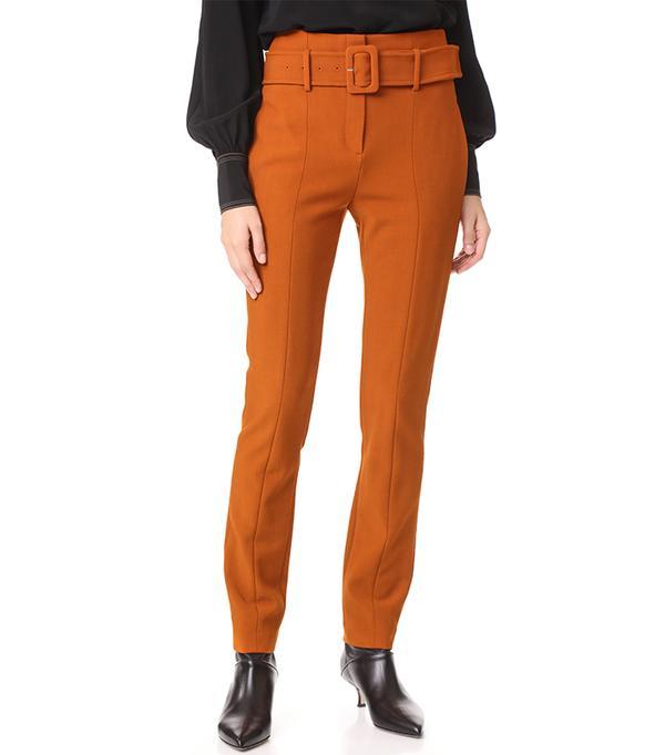 Belt Cigarette Pants