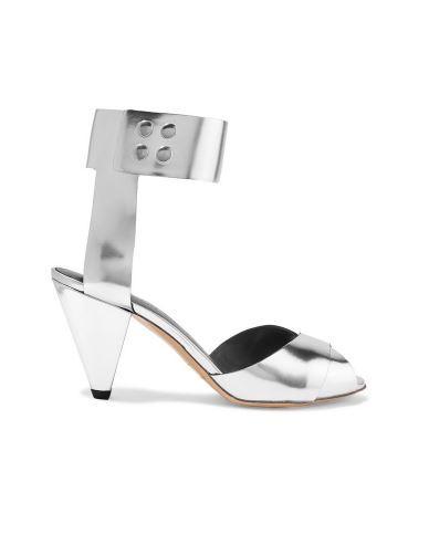 Étoile Isabel Marant Meegan Metallic Patent-Leather Sandals