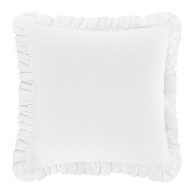 """23"""" Rook Ivory Pillow with Feather-Down Insert"""