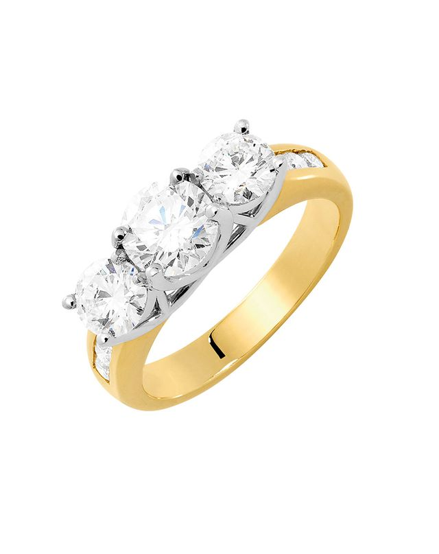 Michael Hill Evermore Engagement Ring with 2 Carat TW of Diamonds in 18ct Yellow & White Gold