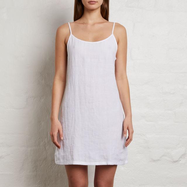 In Bed 100% Linen Slip Dress