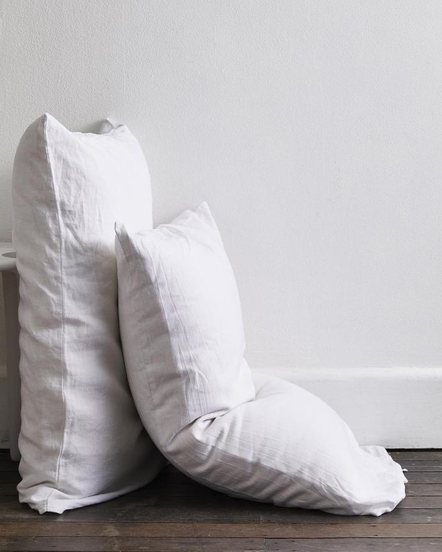 Bed Threads 100% Flax Linen Pillowcases (Set of Two)