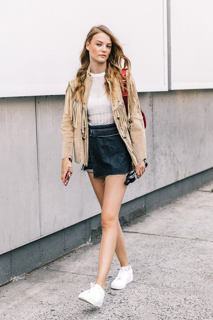 15 cute outfits to wear with tennis shoes  who what wear