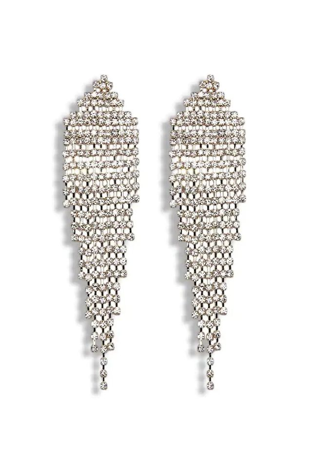 Rhinestone Duster Earrings