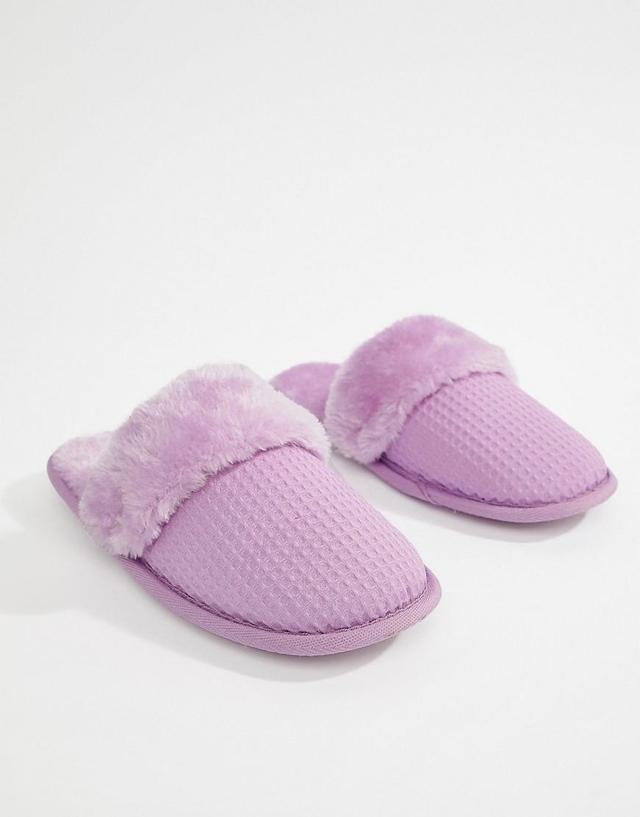 ASOS NINA Waffle Slippers