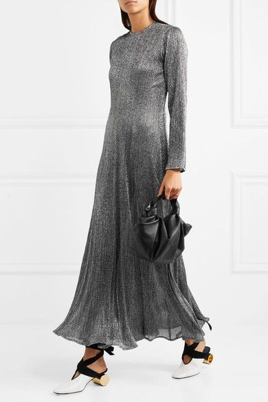 Georgia Alice Dusk Pleated Lurex Dress