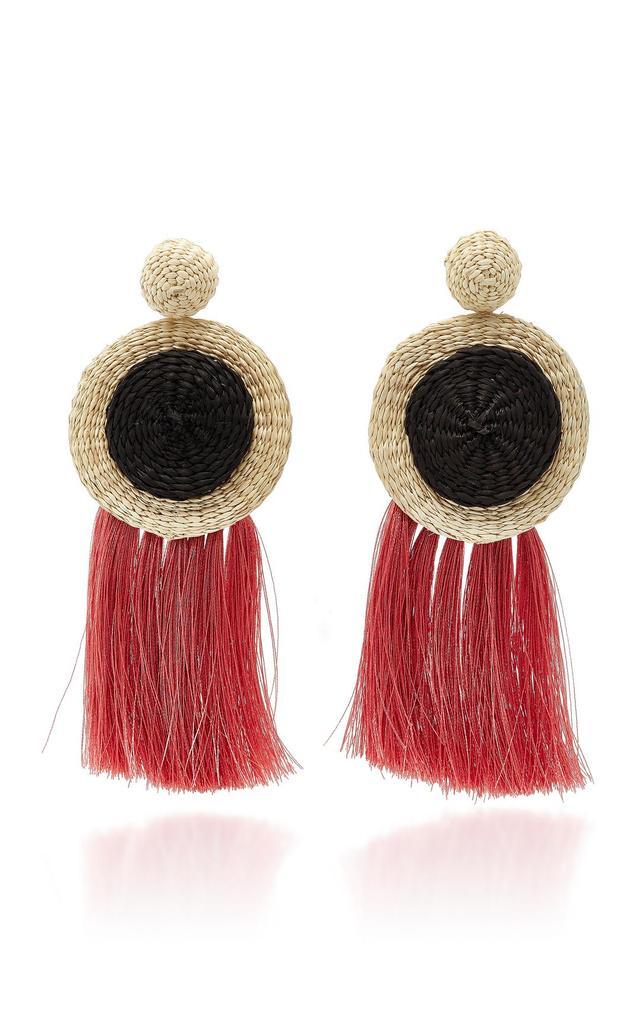M'O Exclusive Opium War Fringe Earrings