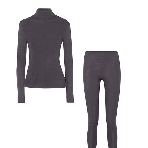 Silk and Cashmere-Blend Jersey Turtleneck Top
