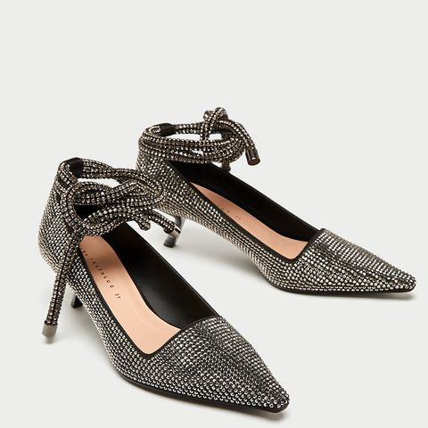 Shiny High Heel Court Shoes