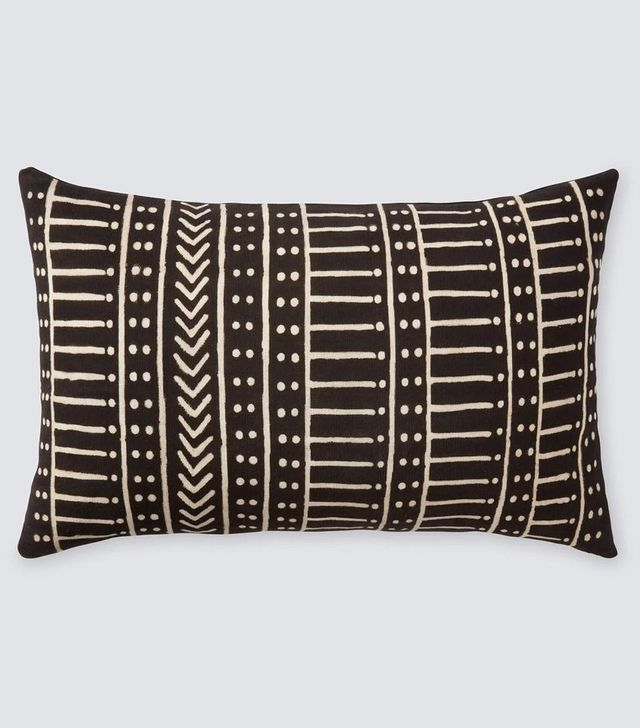 The Citizenry Minuit Mud Cloth Lumbar Pillows