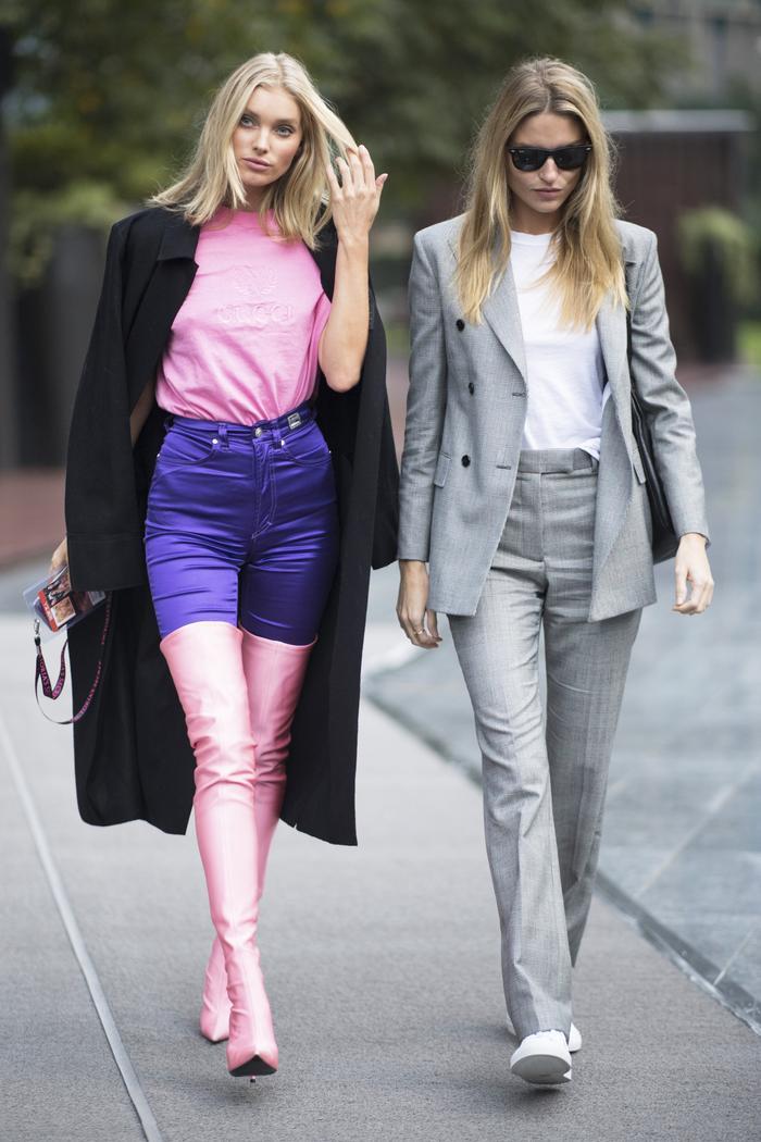 Elsa Hosk Wore Bold Thigh High Balenciaga Boots Who