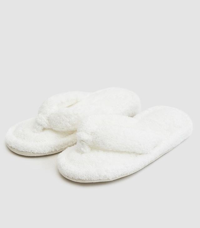 Uchino Bath Slippers in White